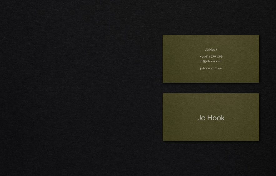 Jo Hook Branding Identity Melbourne JAC& Collingwood Designer Graphic Design