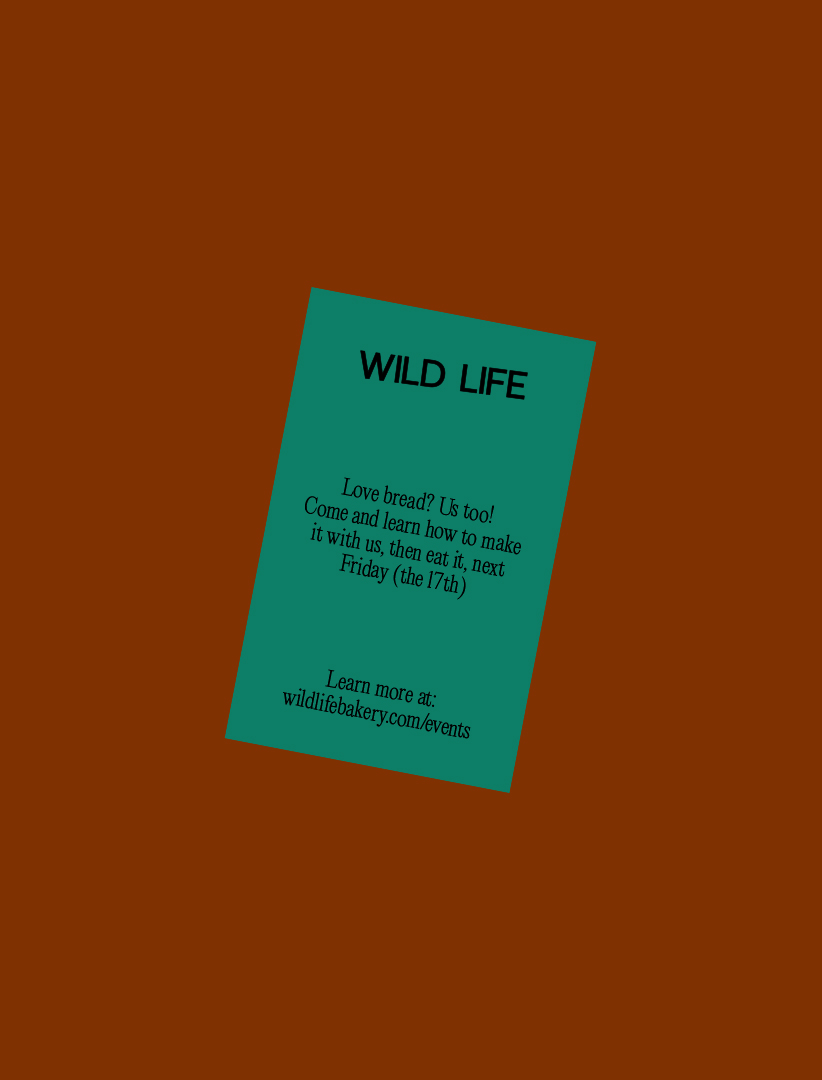 JAC&_Wild Life Cafe and Bakery_Graphic Design
